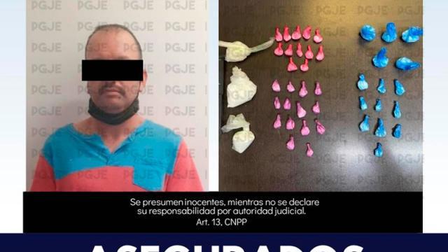 PGJE asegura más de 2 mil dosis de narcóticos