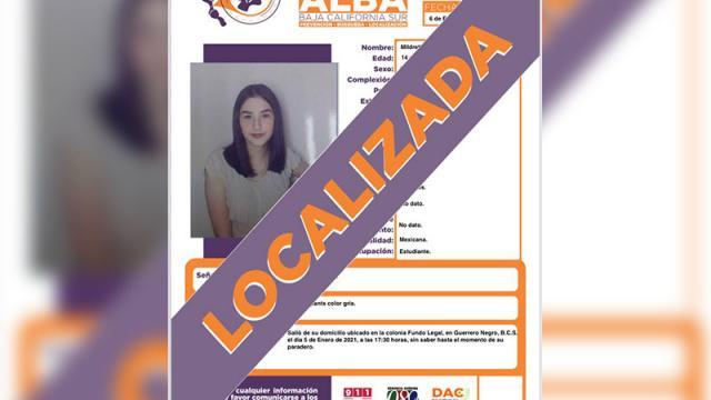 Localizan a joven desaparecida en Guerrero Negro