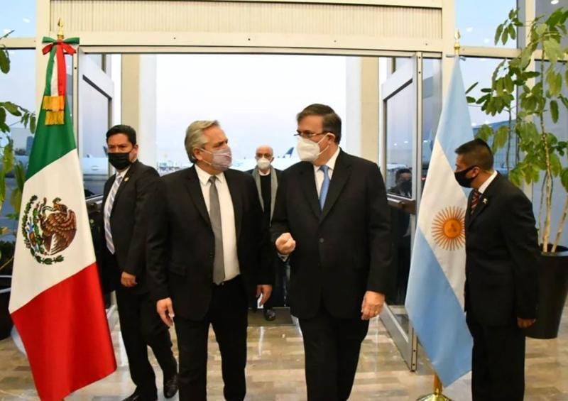 Alberto Fernández y Marcelo Ebrard