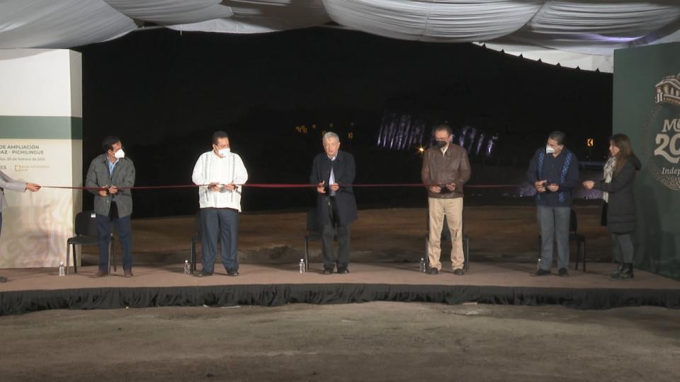 Inauguran tramo La Paz-Pichilingue; AMLO promete más para BCS