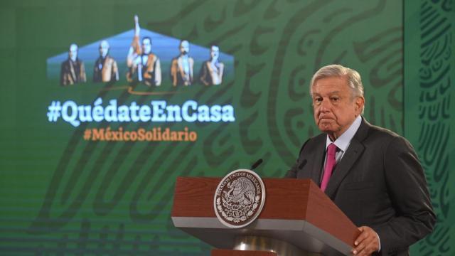 En conferencia mañanera desde el Palacio Nacional