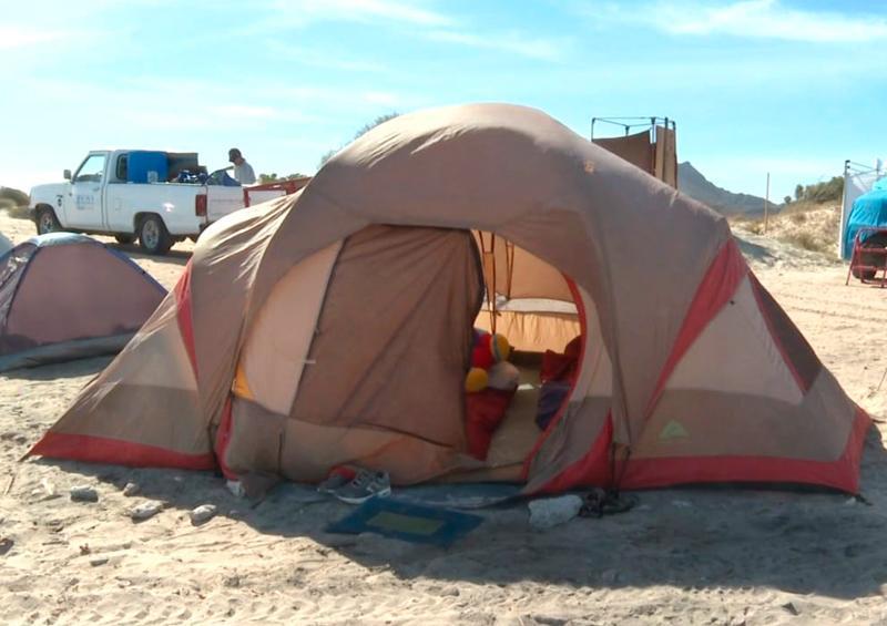 Campamento en playa