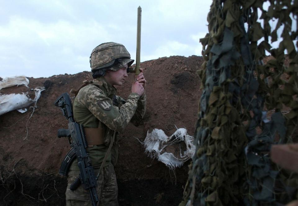 Militar en la frontera ucraniana