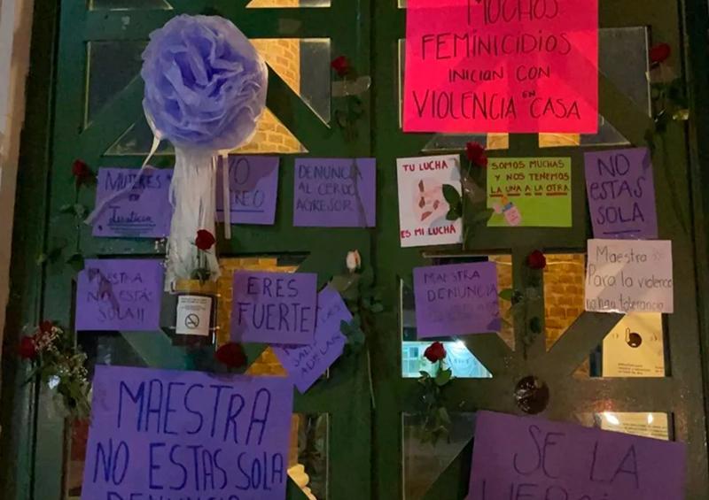 """""""No estás sola"""": mensajes de apoyo a maestra agredida"""