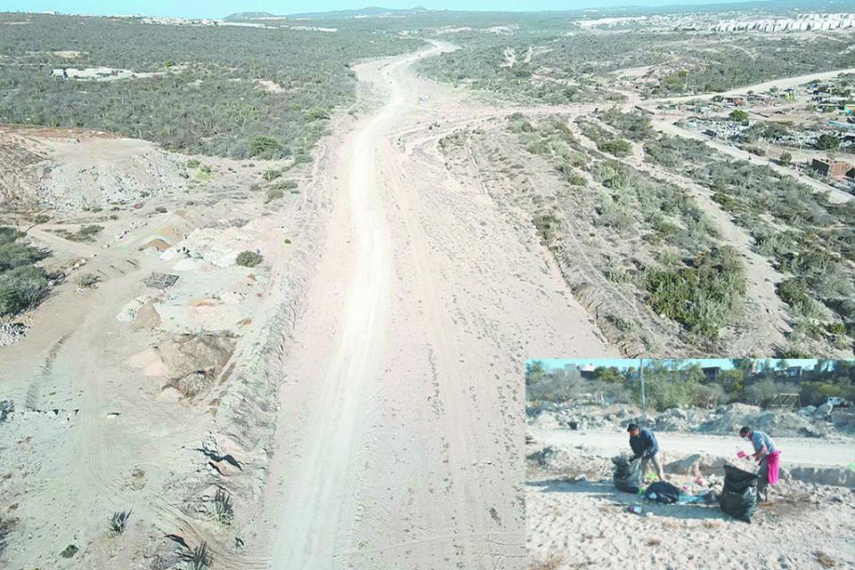 Continúan limpieza de  arroyos en Los Cabos