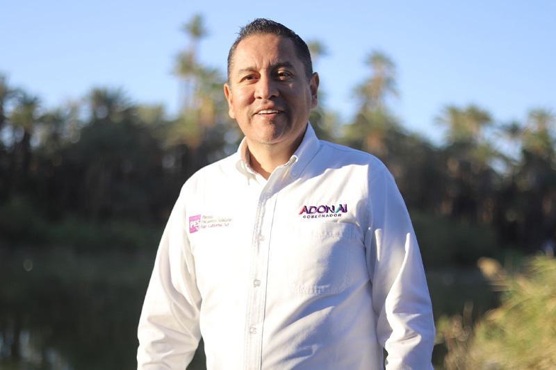 Adonaí Carreón, candidato del Partido Encuentro Solidario por la gubernatura de BCS