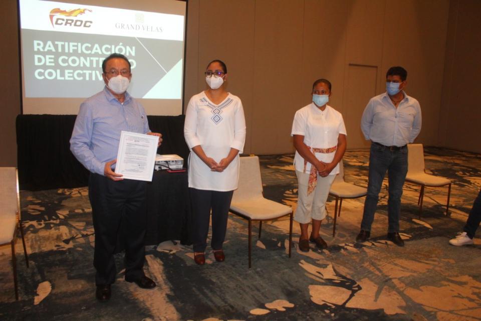 Avalan contrato de trabajadores en Hotel Grand Velas