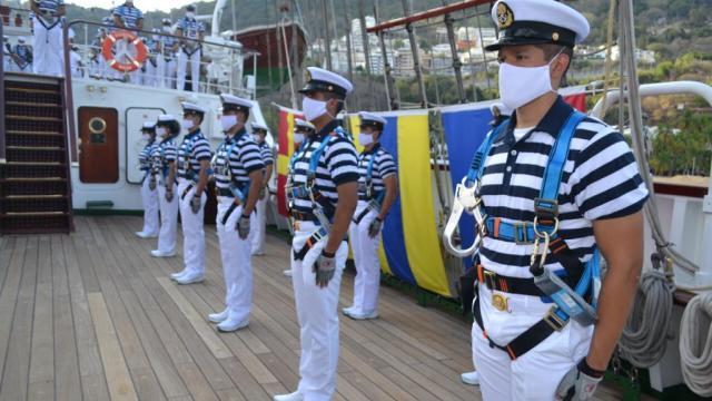 Buque Cuauhtémoc en Cabo San Lucas