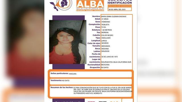 PGJE activa Protocolo Alba por desaparecida en Tecate BC