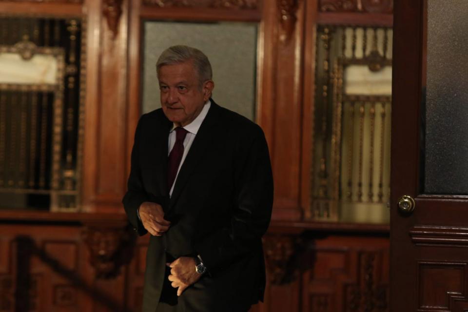 AMLO en el Palacio Nacional
