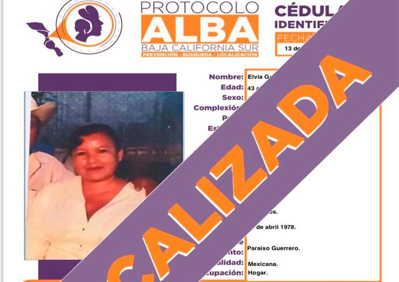 Localizan a mujer desaparecida en Cabo San Lucas