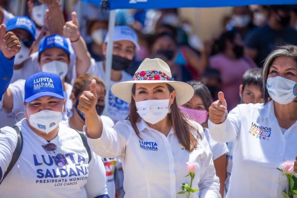 Lupita Saldaña, candidata a la alcaldía de Los Cabos