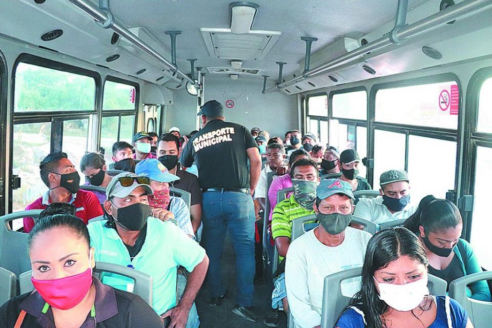 Continúan filtros de seguridad y salud en transporte público