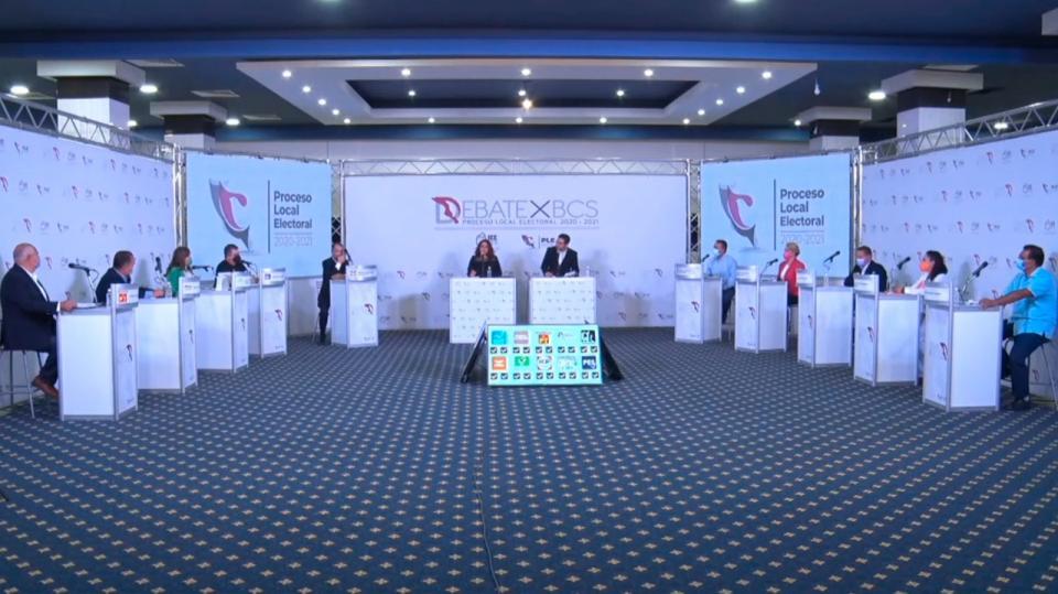 10 candidatos participaron en el primer debate de bcs
