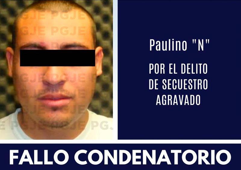Por secuestro agravado Paulino obtiene fallo condenatorio