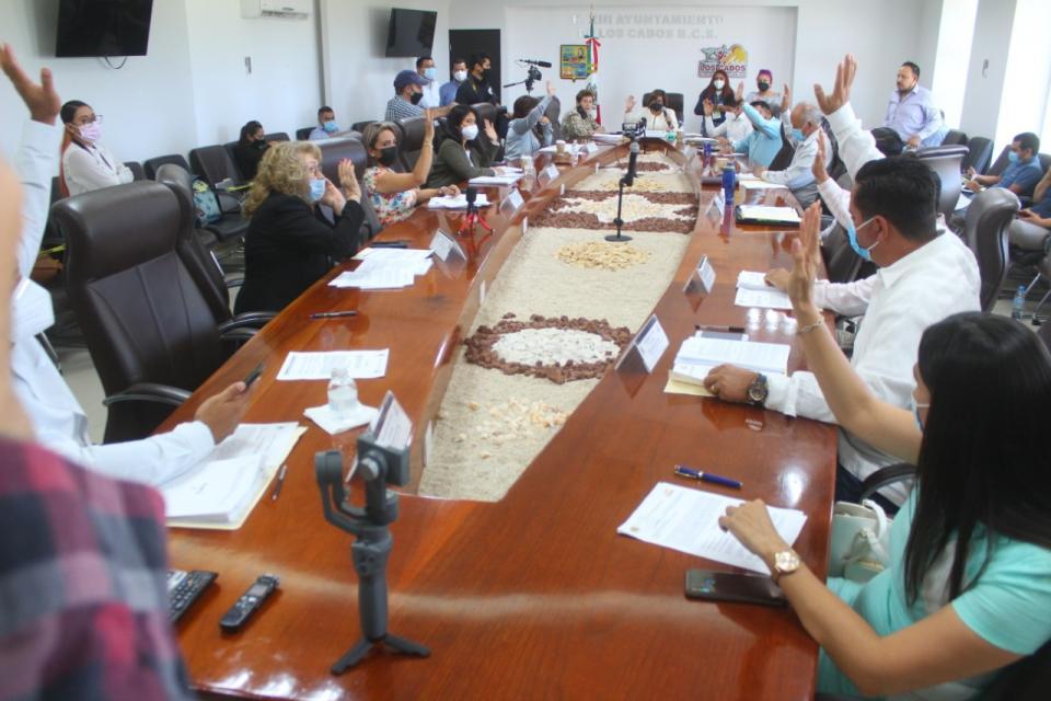 Sesión de cabildo, para la aprobación de tabuladores de salarios