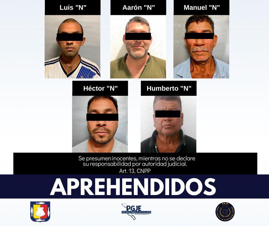 Detienen a 5 sujetos por hechos delictivos