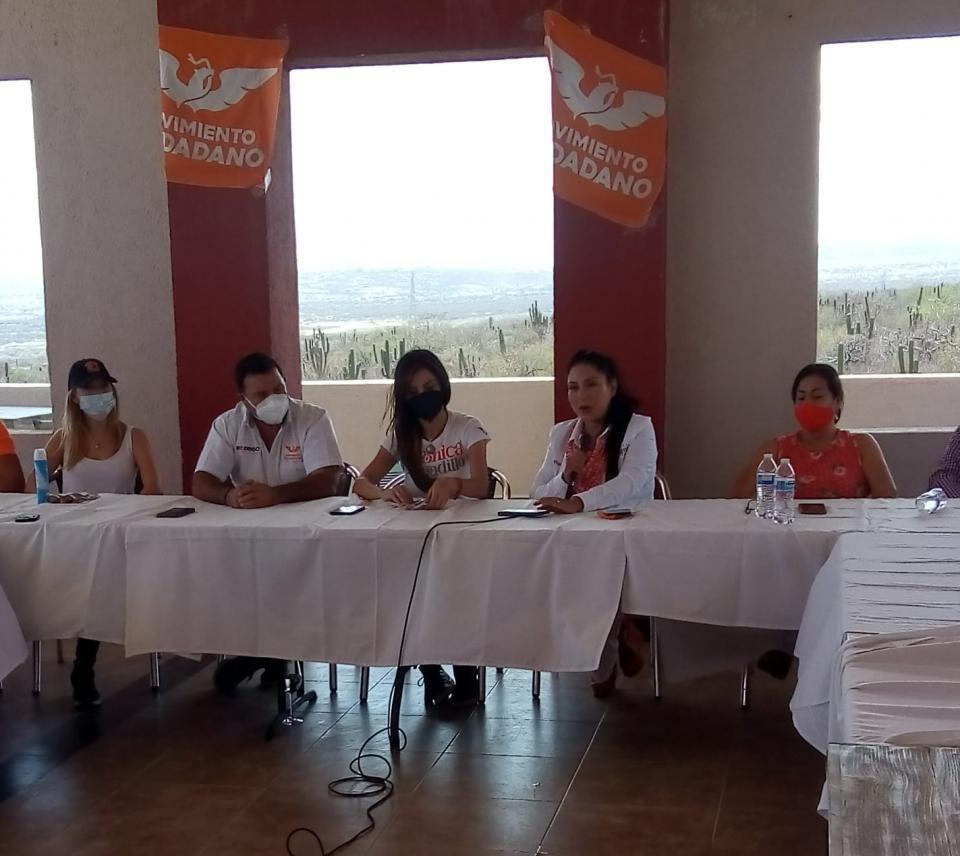 Candidata a la gubernatura de BCS por el partido Movimiento Ciudadano