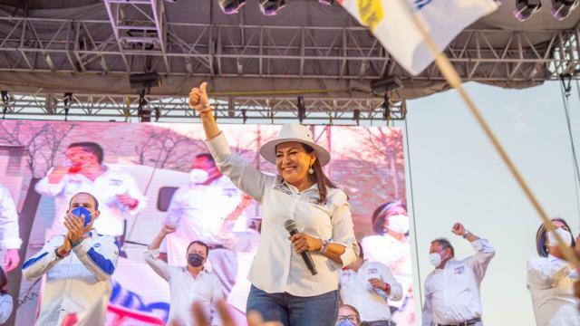 Candidata a la alcaldía de Los Cabos por la alianza Unidos Contigo