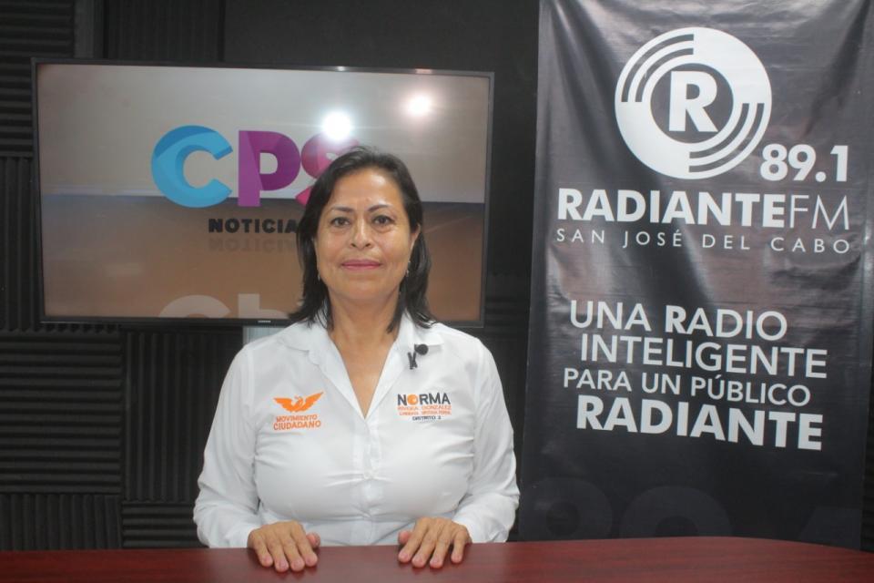candidata por el partido Movimiento Ciudadano a diputada federal del distrito 02