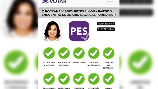 Candidata a la gubernatura por el PES