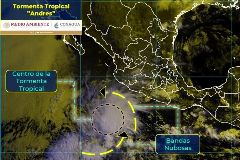 Andrés ya es tormenta tropical en el Pacífico