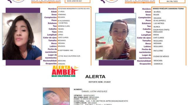 Continúan desaparecidas 2 mujeres en BCS y un menor de edad