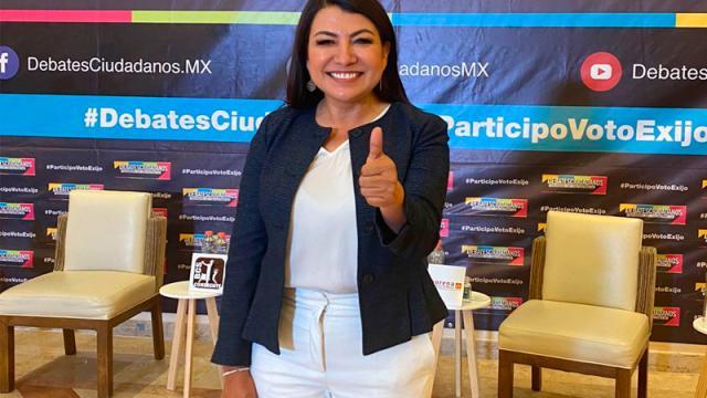 Lupita Saldaña se dice ganadora del debate ciudadano