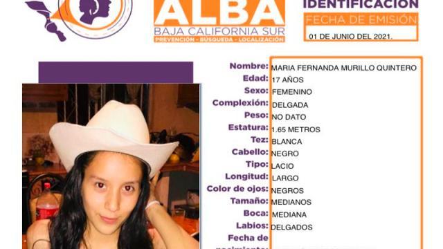 Menor de edad desaparece en la ciudad de La Paz