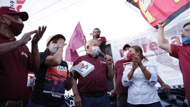 """Pide Castro """"voto masivo"""" a Morena"""