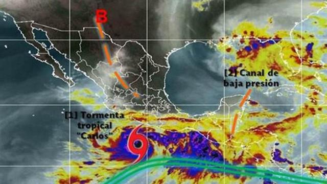 Se forma la tormenta tropical Carlos; no representa riesgo