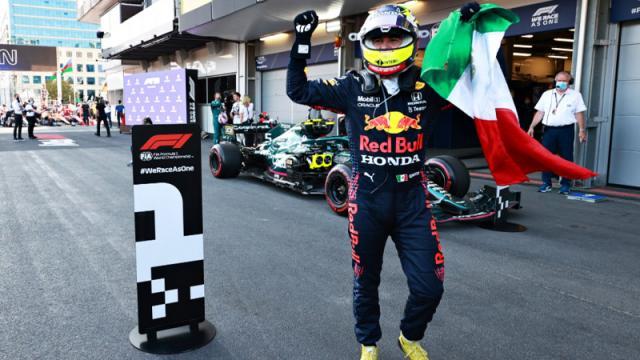 Checo Pérez tras su triunfo en GP de Azerbaiyán