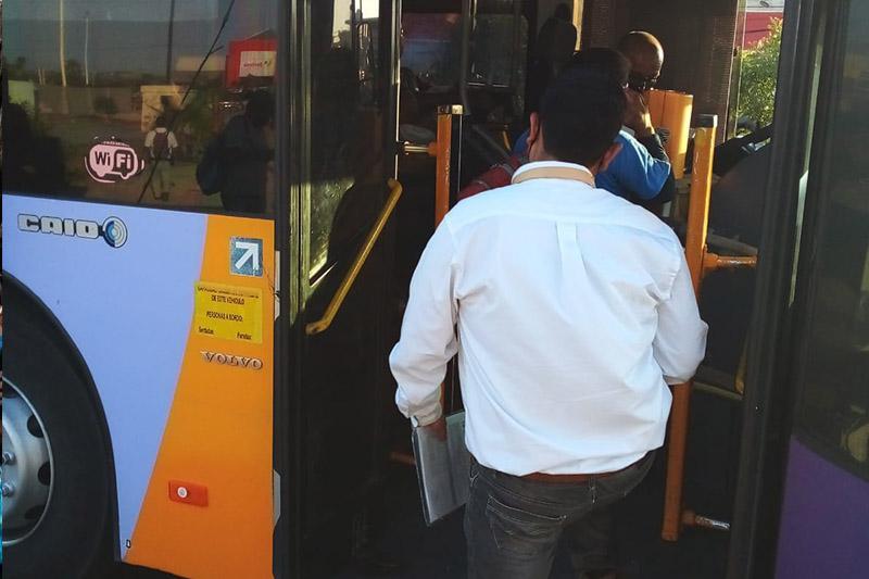 Coepris realizando revisiones en transporte urbano