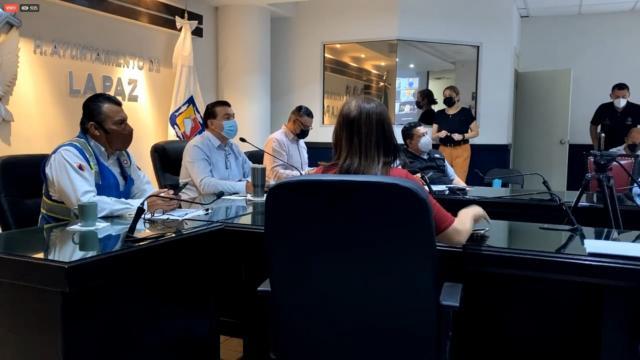 Comité Municipal de Protección Civil de La Paz aplica medidas de restricción para La Paz