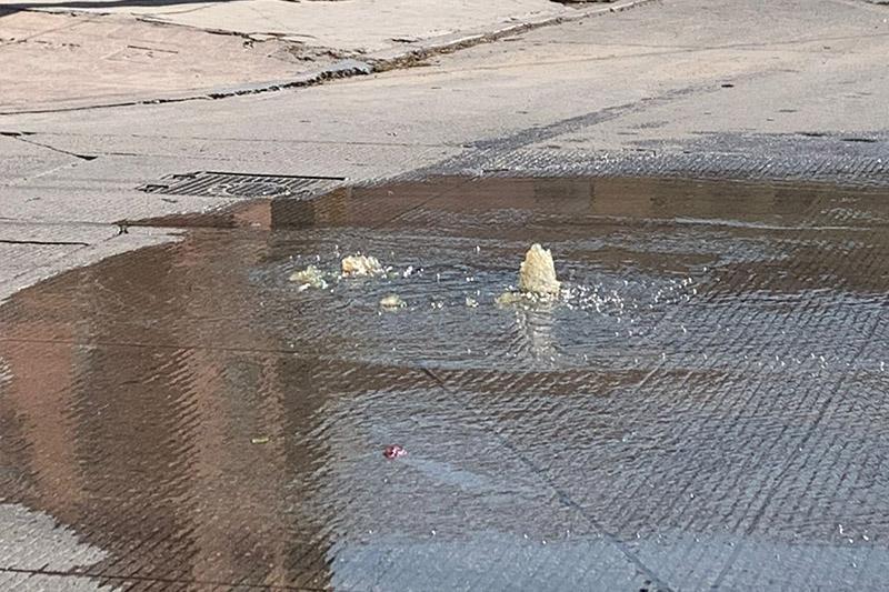 Derrame de aguas negras en CSL