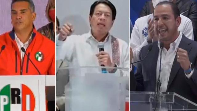 PAN, PRI, MC y Morena se dicen ganadores, pese a resultados