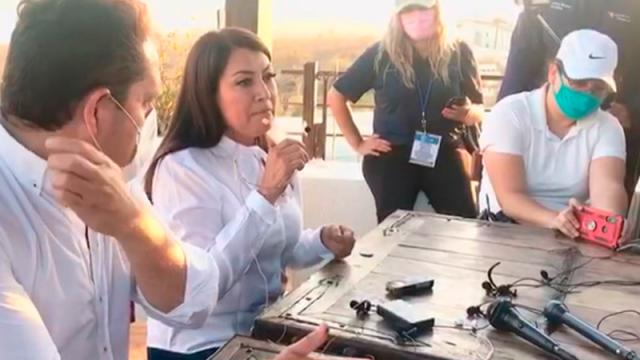 Lupita Saldaña celebra datos preliminares