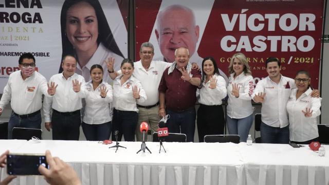 Candidata a la alcaldía de La Paz por coalición Morena-PT