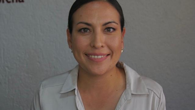 Candidata a la alcaldía de La Paz por la coalición Morena-PT