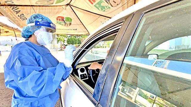 Continúa BCS con alta acción de pruebas Covid en el país