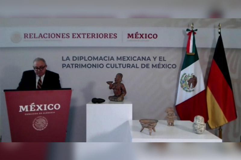 México y Alemania piezas arqueológicas
