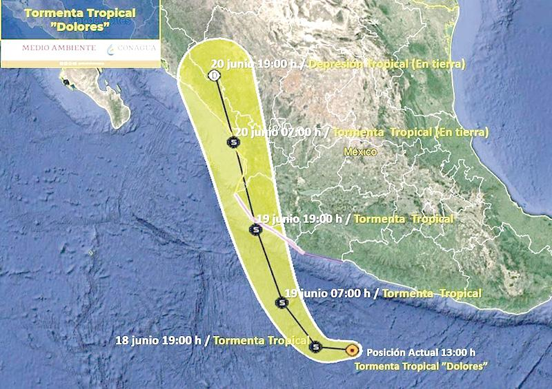 """TT """"Dolores"""" no  representa riesgo para Los Cabos"""
