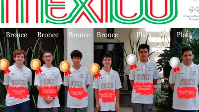 México gana 2 medallas de plata y 4 de bronce en Olimpiada Matemática