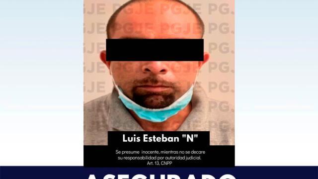 """PGJE asegura a Luis Esteban """"N"""" como probable narcomenudista"""