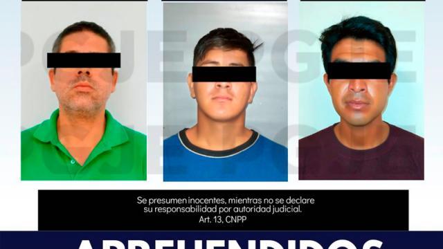 PGJE aprehende a tres hombres por diversos delitos en BCS