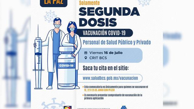 Segunda jornada de vacunación para personal médico