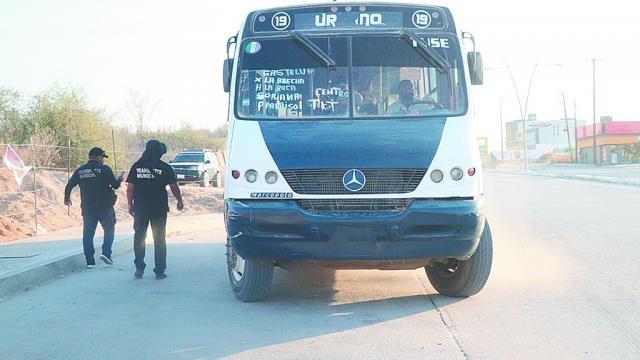 Verifican medidas sanitarias en el transporte público
